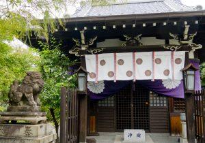 The hall where Chintaku-san is enshrined